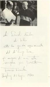 25 Luglio 1970 - Mons. Fiorenzo Romita e Luigi Toja