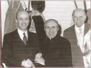 Luigi Toja, don Ermanno Alemanni e Dante Restelli