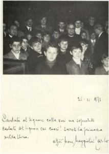 Novembre 1971 - Mons. Carlo Maggiolini e Pueri Cantores