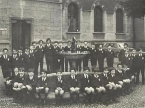 Aprile 1971 - i Pueri in visita alla sede municipale di Rho