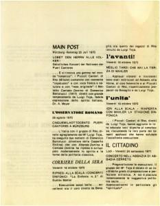 Articoli di giornali d'epoca